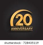 20 years anniversary... | Shutterstock .eps vector #728435119
