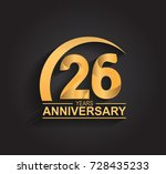 26 years anniversary... | Shutterstock .eps vector #728435233