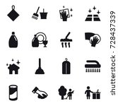 16 vector icon set   rag ... | Shutterstock .eps vector #728437339