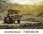 big mining dumping truck   Shutterstock . vector #728438158