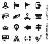 16 vector icon set   pointer ... | Shutterstock .eps vector #728440318