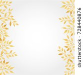 gold autumn leaves background | Shutterstock . vector #728440876