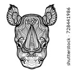 the head of a rhinoceros.... | Shutterstock .eps vector #728441986