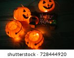welcome to halloween festival... | Shutterstock . vector #728444920