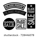 set of black friday and sale... | Shutterstock .eps vector #728446078