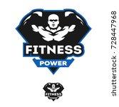 energy fitness  sports logo.   Shutterstock .eps vector #728447968