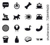 16 vector icon set   message ... | Shutterstock .eps vector #728449600
