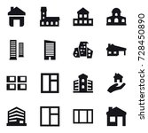 16 vector icon set   home ... | Shutterstock .eps vector #728450890