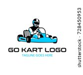 go kart logo illustration | Shutterstock .eps vector #728450953
