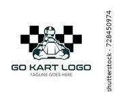 go kart logo illustration | Shutterstock .eps vector #728450974