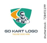 go kart logo illustration | Shutterstock .eps vector #728451199