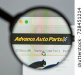 Small photo of Milan, Italy - August 10, 2017: Advance Auto Parts website. It is now the largest retailer of automotive replacement parts and accessories in the United States. Advance Auto Parts logo visible.
