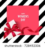 women's day template with... | Shutterstock .eps vector #728452336