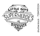 little boys are just... | Shutterstock .eps vector #728455324