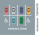 city car parking vector...   Shutterstock .eps vector #728456578