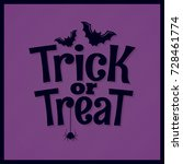 trick or treat halloween... | Shutterstock .eps vector #728461774