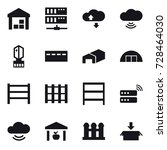 16 vector icon set   warehouse  ... | Shutterstock .eps vector #728464030