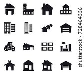 16 vector icon set   home ... | Shutterstock .eps vector #728464336