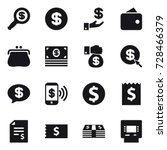 16 vector icon set   dollar... | Shutterstock .eps vector #728466379