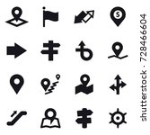 16 vector icon set   pointer ... | Shutterstock .eps vector #728466604