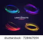 set of colorful vector light... | Shutterstock .eps vector #728467054