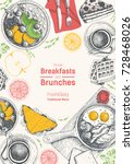 breakfasts and brunches top... | Shutterstock .eps vector #728468026