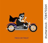 halloween greeting card. count... | Shutterstock .eps vector #728470264
