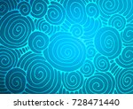 Light Blue Vector Indian Curve...