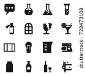 16 vector icon set   message ... | Shutterstock .eps vector #728473108