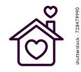 loving home icon   Shutterstock .eps vector #728479990