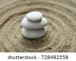 three stacked white pebble... | Shutterstock . vector #728482558
