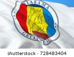 alabama flag seal. state of... | Shutterstock . vector #728483404