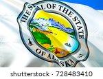 alaska flag seal. state of... | Shutterstock . vector #728483410