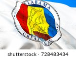 alabama flag seal. state of... | Shutterstock . vector #728483434