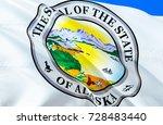 alaska flag seal. state of... | Shutterstock . vector #728483440