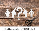 divorced couple decide how to... | Shutterstock . vector #728488174