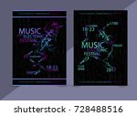 electronic music covers.... | Shutterstock .eps vector #728488516