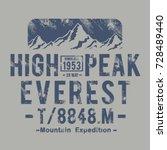 mountain himalaya typography ... | Shutterstock .eps vector #728489440