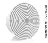 maze of circular shape on a... | Shutterstock . vector #72848980