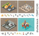 isometric high quality city... | Shutterstock .eps vector #728491240