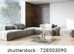 modern bright interiors. 3d... | Shutterstock . vector #728503090