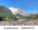 mt rainier from white river... | Shutterstock . vector #728505073