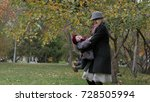 a young woman with her daughter ...   Shutterstock . vector #728505994