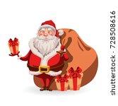 santa claus character. merry...   Shutterstock .eps vector #728508616