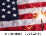 fourth of july sparkler.    Shutterstock . vector #728512450