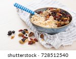 steel cut oats served with... | Shutterstock . vector #728512540