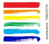 set of color grunge... | Shutterstock .eps vector #728515774