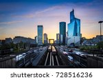 la defense business district at ... | Shutterstock . vector #728516236