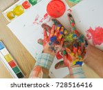 Arts And Crafts. Handprint...