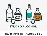 strong alcohol concept. vodka... | Shutterstock .eps vector #728518516